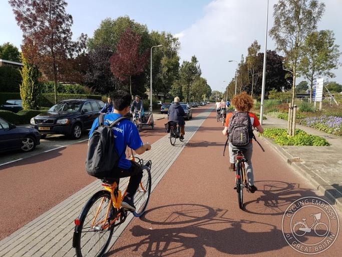 Cycle street, fietsstraat, Utrecht, NL