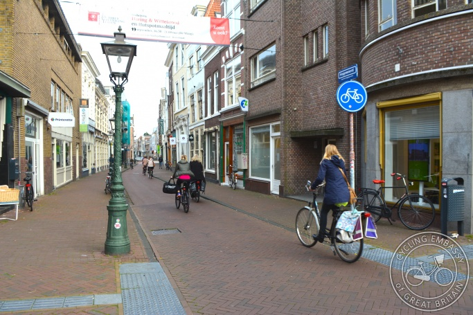 Cycle-only street, Leiden, The Netherlands