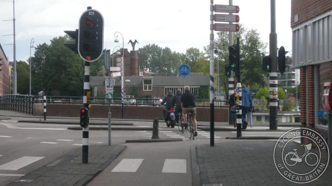 Signalised junction Amsterdam
