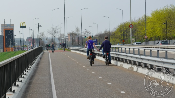 Cycle track Nijmegen bridge
