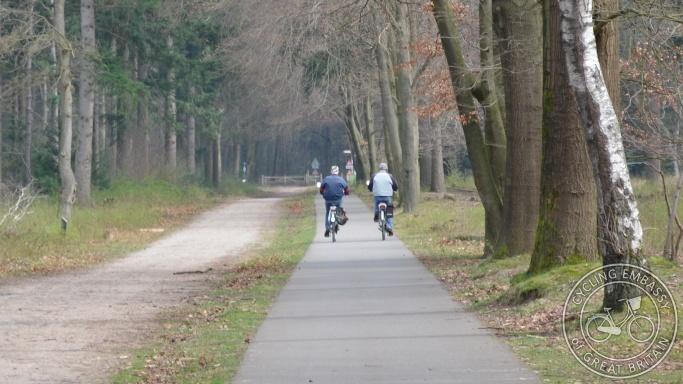 Rural cycle path