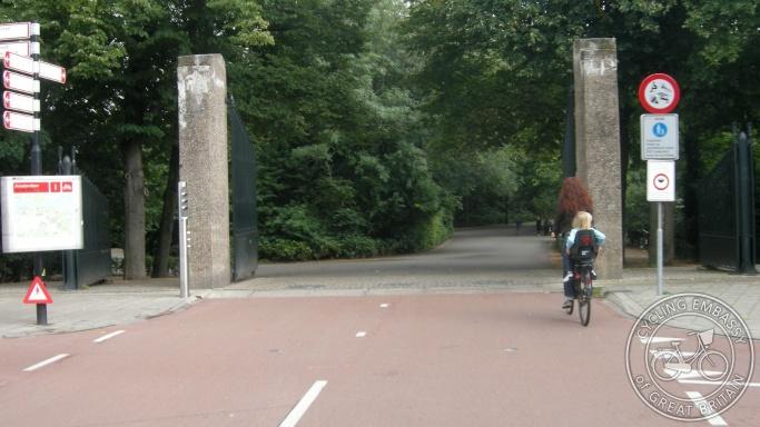 Vondelpark western entrance Amsterdam