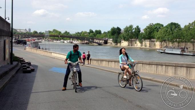 Left bank road closure Paris