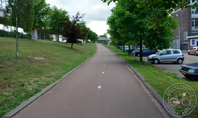 Cycle path Rotterdam gradient