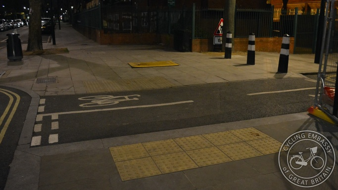 Filtered permeability cycle link Brill Place Camden