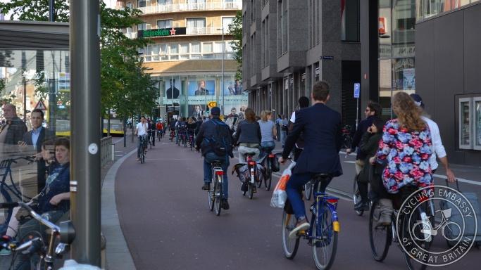 Vredenburg cycleway Utrecht bi-directional