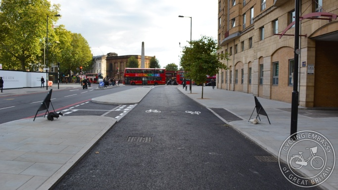 Cycleway Blackfriars Road London