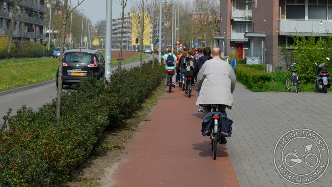 Cycleway with forgiving kerbing Wageningen