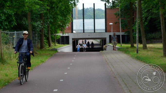 Cycling and walking underpass Zwolle bypass