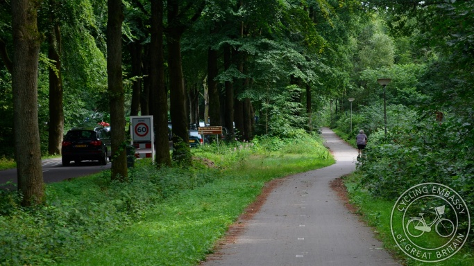 Rural bi-directional cycle path Annen Drenthe