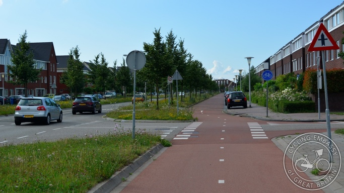 Service road cycleway Zwolle