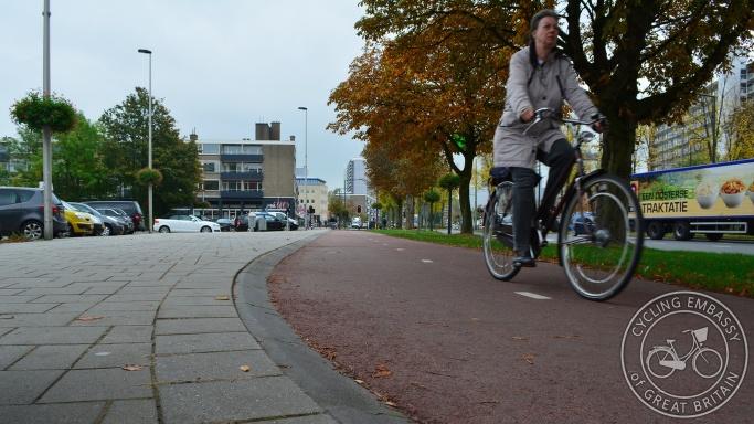Forgiving kerb cycleway Delft