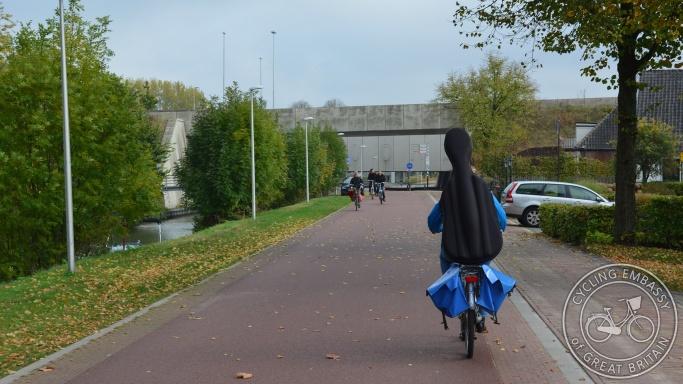 Cycle Street Rijksstraatweg Utrecht Netherlands