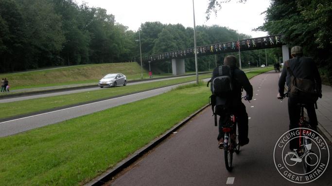 Bi-directional cycleway pair Amsterdam NL