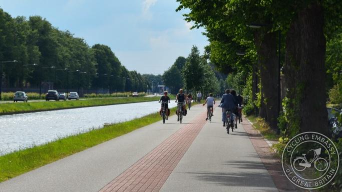 Cycle street fietsstraat Assen Netherlands