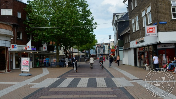 Low-traffic city centre street, Assen, Netherlands