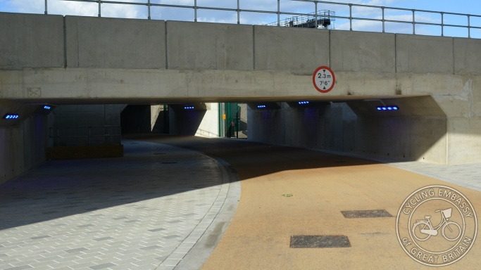Cycling and walking underpass, Bolina Road, London