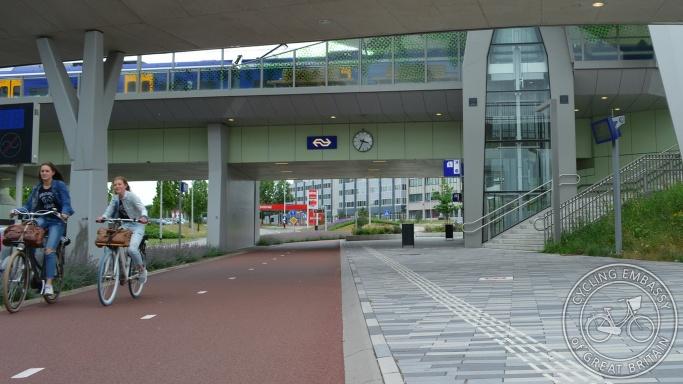 Nijmegen Goffert cycleway railway station