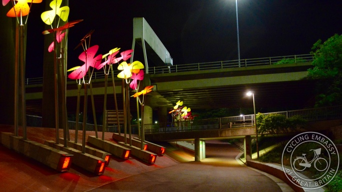 Cycling and Walking Underpass M8 motorway Glasgow