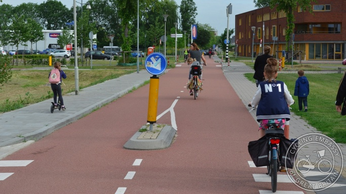 Priority cycle route Lent Nijmegen NL