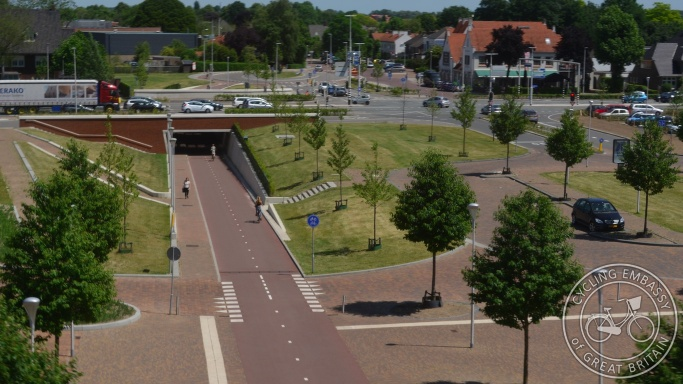 Cycling and walking Underpass, Lent, NL