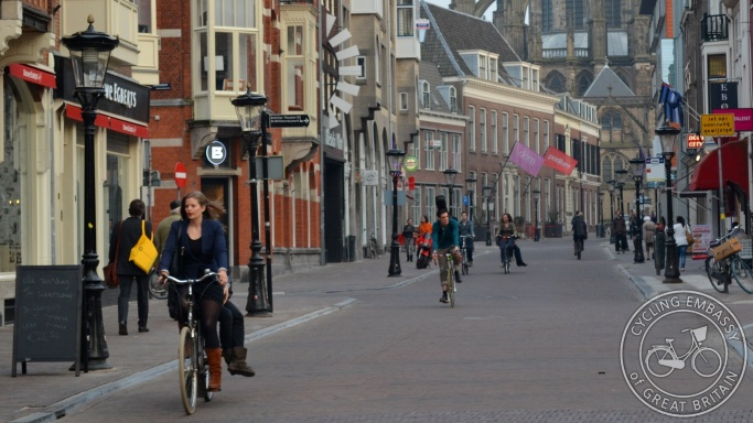 Low motor traffic street Utrecht NL