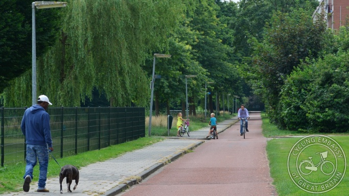 Cycle path with separate footway, Assen, NL