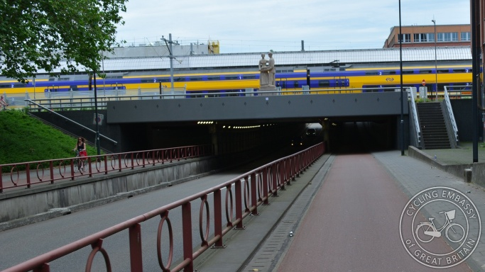 Cycle underpass, Den Bosch railway station
