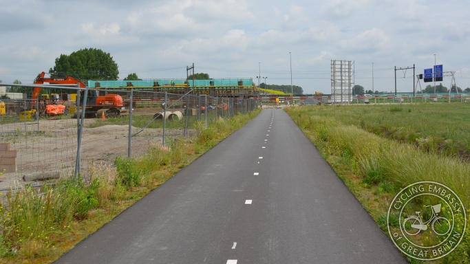 Temporary cycle path, Zoetermeer, NL