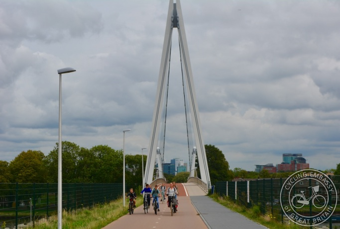 Cycling and walking bridge, Utrecht, NL