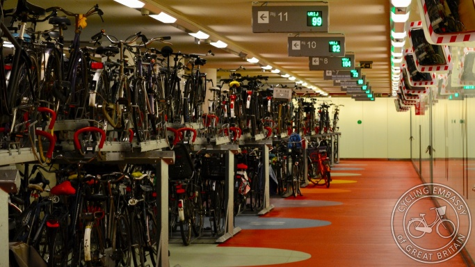 Rotterdam Centraal cycle parking garage