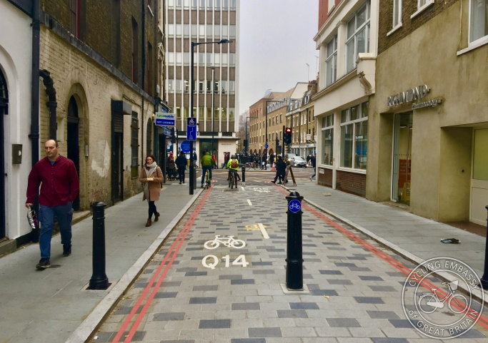 Filtered street, Newcomen Street, London