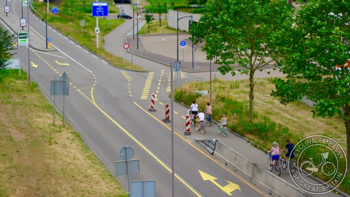 Temporary protected bike lane, 's-Hertogenbosch, NL