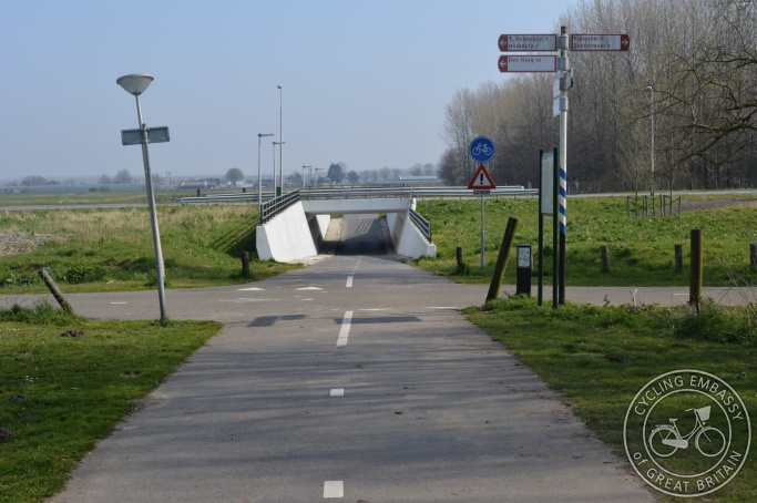 Cycle underpass, Delft-Zoetermeer 'fast' cycle route