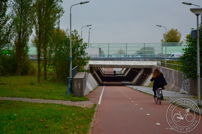 Cycling underpass, Delft, NL