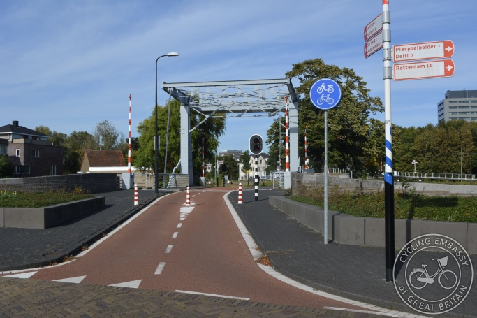 Cycling-only bridge, Rijswijk, The Netherlands