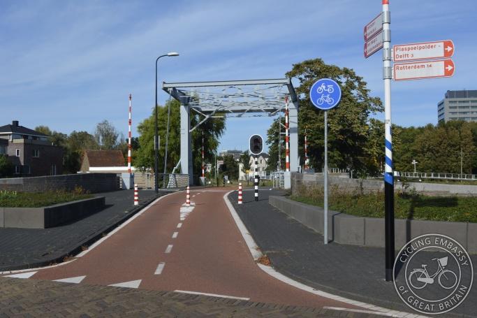 Cycling-only bridge, Rijswijk, The Netherlands