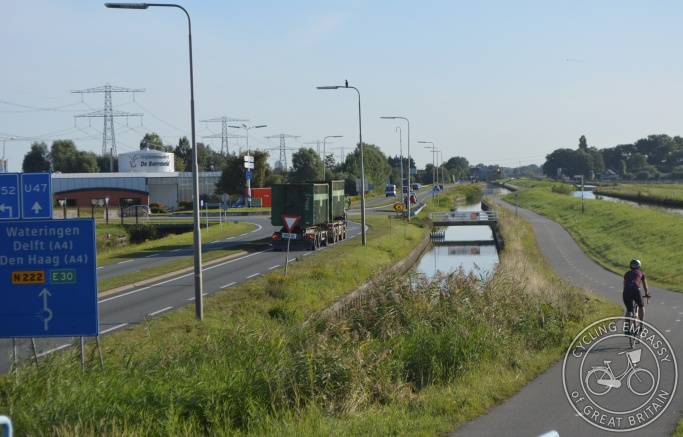 Main road cycle path, De Lier, The Netherlands