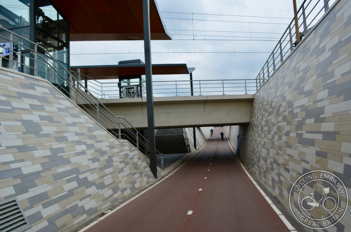 Railway station underpass, Elst, The Netherlands