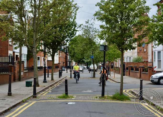 A low traffic neighbourhood in Leicester, England