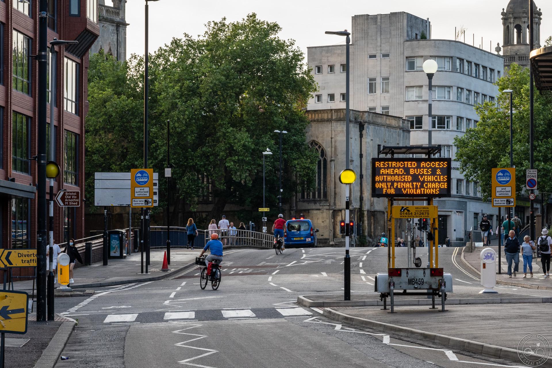 A bus gate in Bristol