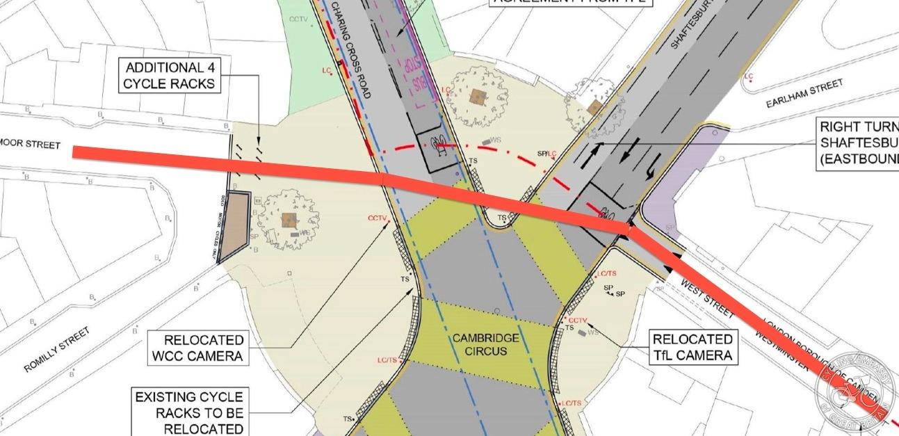 Cambridge Circus plan