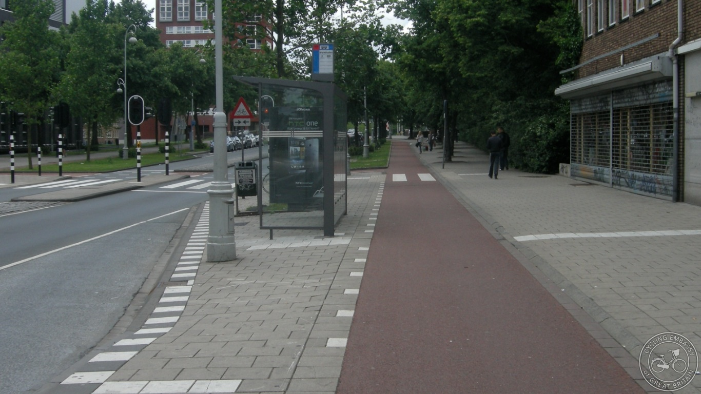 Bus stop bypass Amsterdam