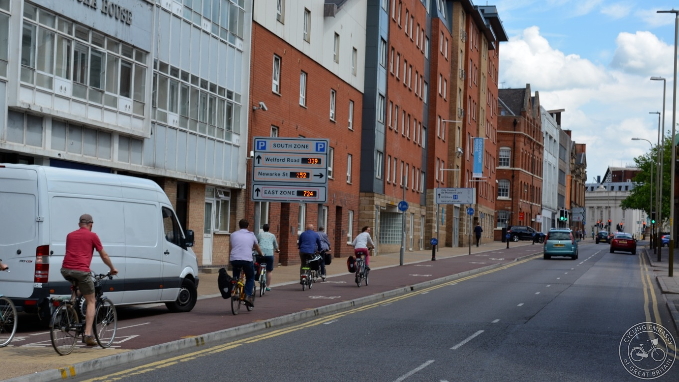 Newarke Street Cycleway Leicester