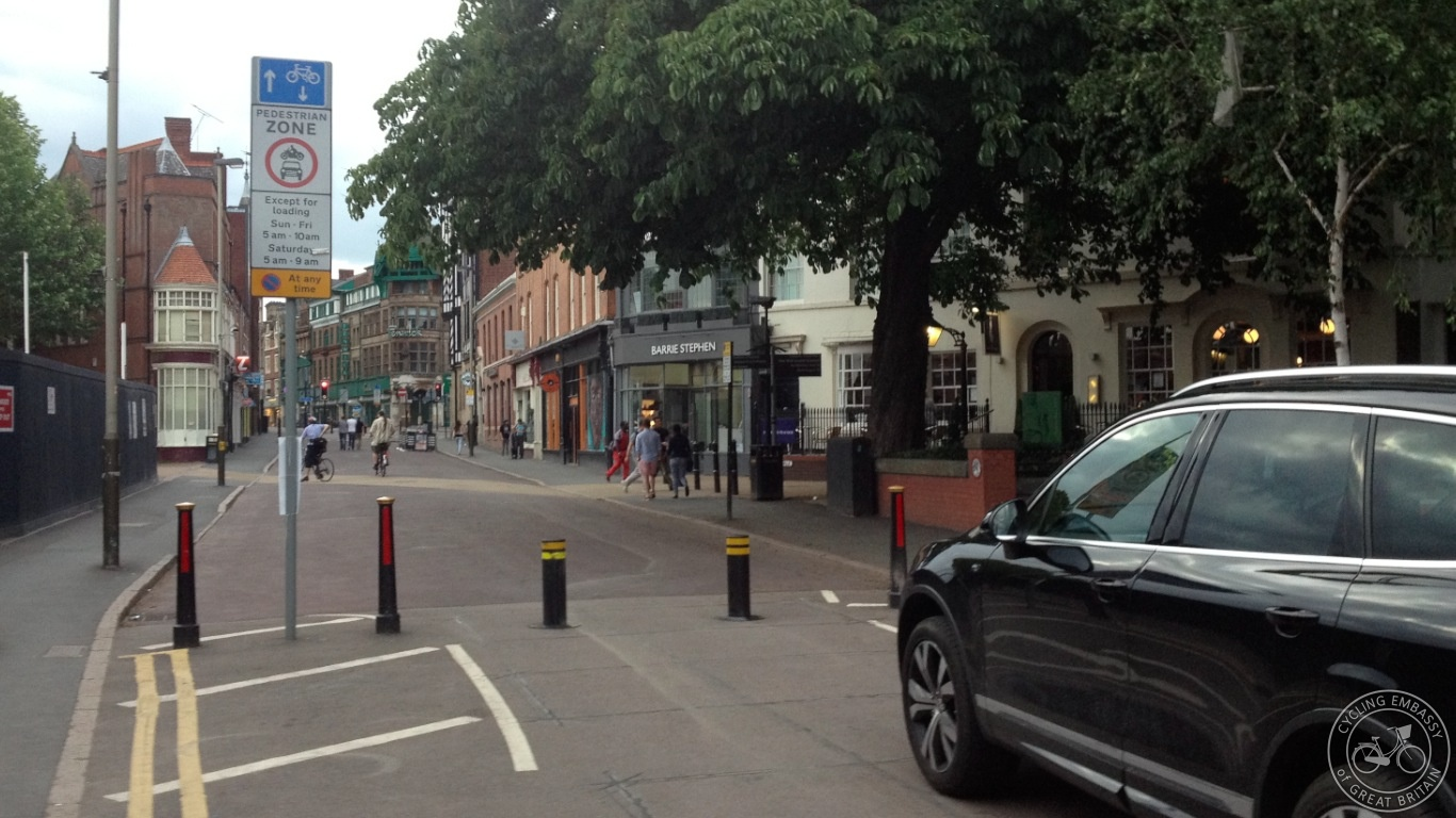 Filtered permeability Leicester city centre