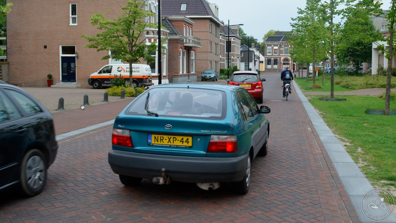 Shared space road Assen