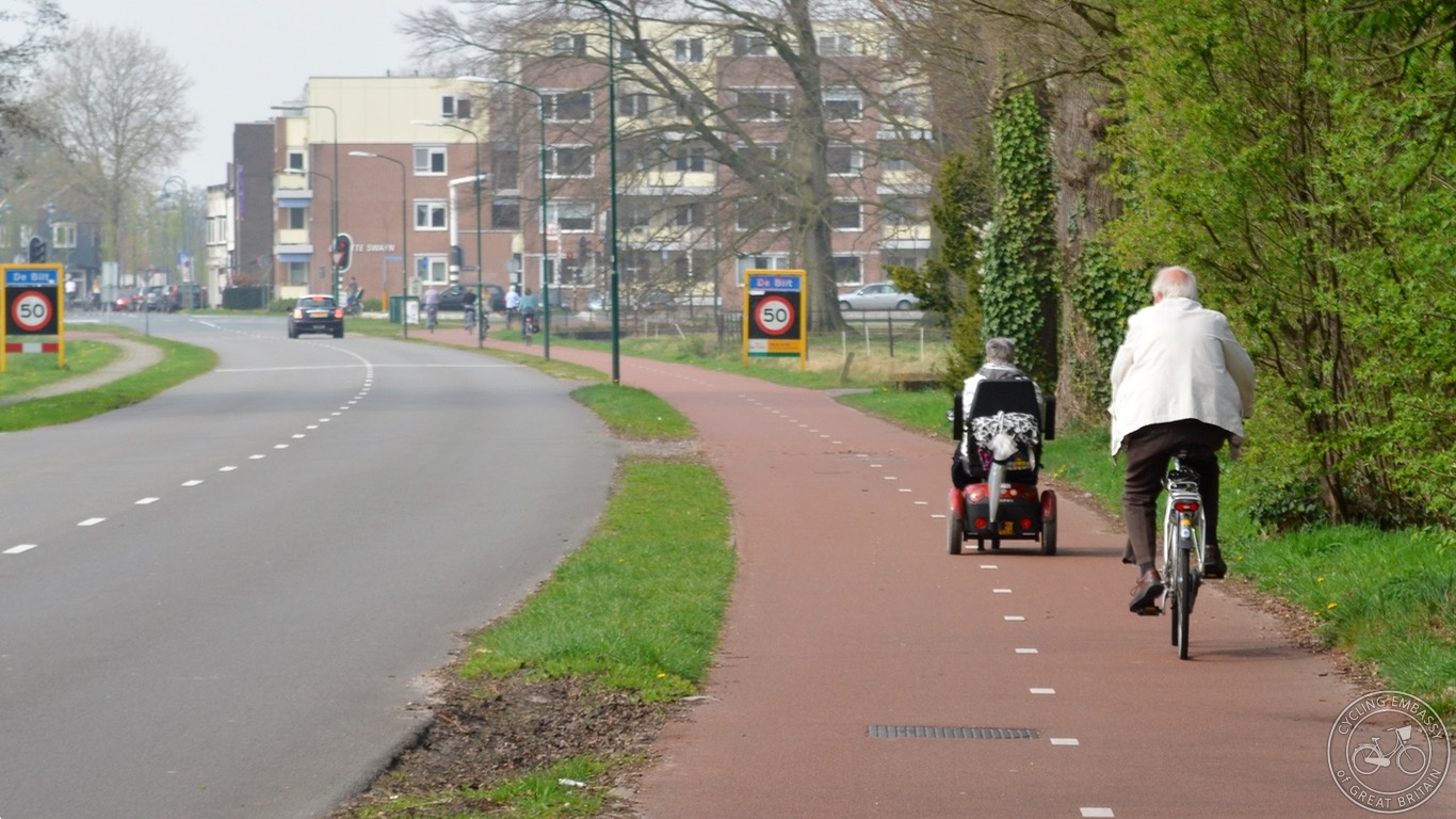 Mobility scooter and cycling de Bilt