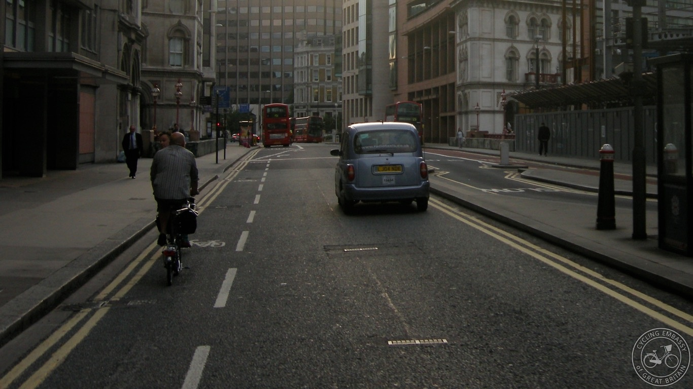 Advisory Cycle Lane, City of London