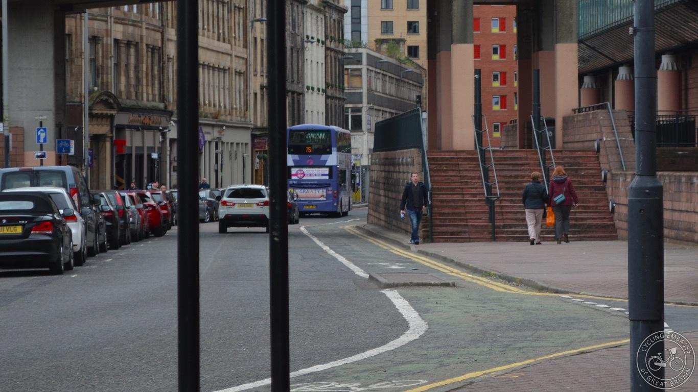 Glasgow footway steps