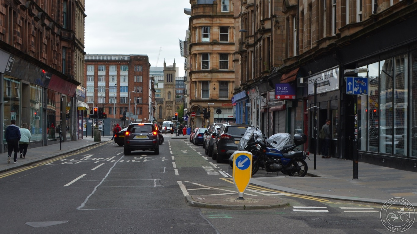 Glasgow painted contraflow